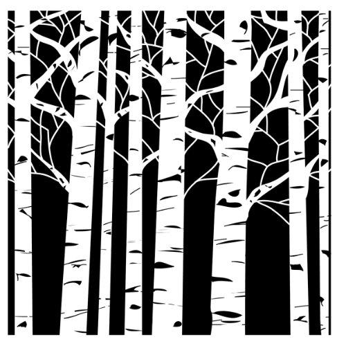 Crafters Workshop Kunststoff Vorlage 12Zoll x 12Zoll Aspen Trees (Crafters 12 Workshop Von 12)