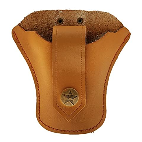 Outdoor Hunting Slingshot Steel Ball Artificial Leather Waist Bag Pouch Case Brown/Black - Brown,