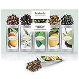 Hojas Sueltas de Té Verde de UN SOLO USO de Tea Forte, caja de un surtido de variedades de té, 15 bolsas de un solo uso