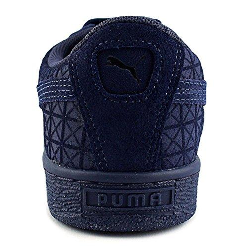 Puma Suede on Suede Jr Leder Sportliche Turnschuh Peacoat