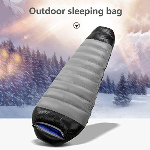JIBO Outdoor-Schlafsack Erwachsene Ultra Licht Camping Warme Gepolsterte Innen Mittagspause Weißen Samt Schlafsack (210 * 80 * 50Cm),Gray