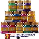[Sponsored]Flash Acrylic Metallic Basic Colours 50 Ml (12 Colours) Box