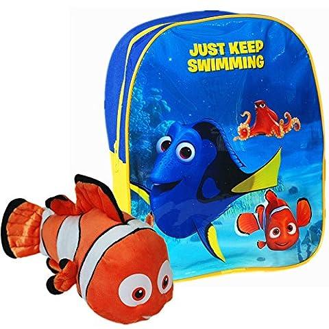 Disney® Pixar Finding Dory Offizielles Kinder Schule Reise Rucksack Rucksack Tasche mit Nemo weichem Plüsch Spielzeug