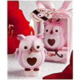 Adorable pink owl candle