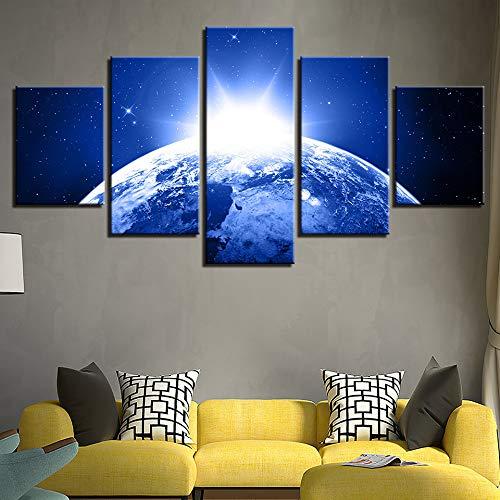 adgkitb canvas Leinwand Einfache Sternenhimmel Malerei Fünf Stücke Home Decoracion Nordica Infantil Sofa Hintergrund Dekor Bild