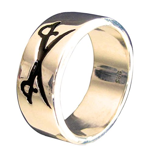 crossed-swords-pirate-ring-in-bronze-with-black-enamel-size-h-to-z-3