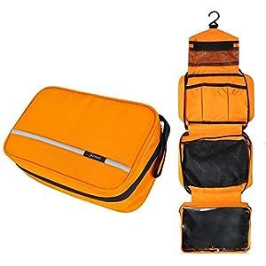 51djv230vzL. SS300 Beauty Case da Viaggio, Borsa per Toilette - Uomini e Donne, Con Gancio e Maniglia, Materiale Impermeabile
