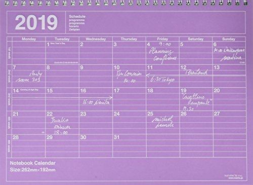 MARK'S 2019 Tischkalender M // Purple