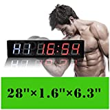 Jumbo hiit Crossfit Fitness Intervall Training Timer Best für Gym/Boxen/Laufen/Kettlebells Cardio-Und Tabatha Workouts/W Fernbedienung größere LED Digital Wanduhr Moderne Design Home Decor
