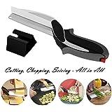 Clever alimentaire Chopper Cutter 2 en 1 - Remplacer vos couteaux de cuisine et planches à découper, complément alimentaire pour bébé, ciseaux