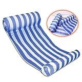 Seogva Prima Piscina Playa Hamaca de agua flotante Sillón Cama flotante Nadar anillo de flotación inflable y Oceano Lilo 133*66*22CM (Azul)