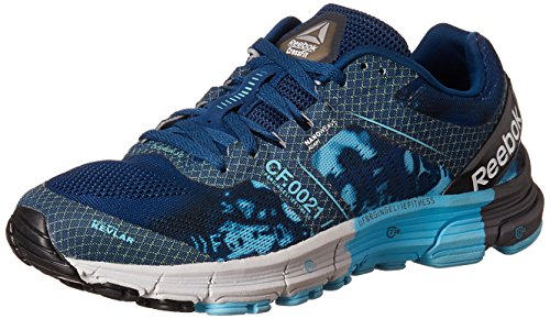 Reebok Women's R Crossfit One Cushion3.0 Blue, Black, Grey and Silver Running Shoes – 4 UK/India (37 EU) (6.5 US) 51djxhsHaEL