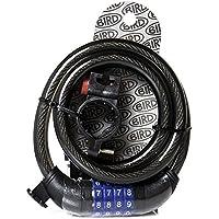 BIRD - Cerradura de combinación para bicicleta, programable, cable de acero autoenrollable, para bicicleta