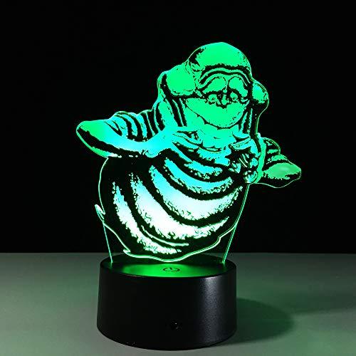 Bonhomme de neige 3D Lampe Colorée Télécommande Tactile LED Lampe Creative Products Gift Night Lamp, Colorful: Touch