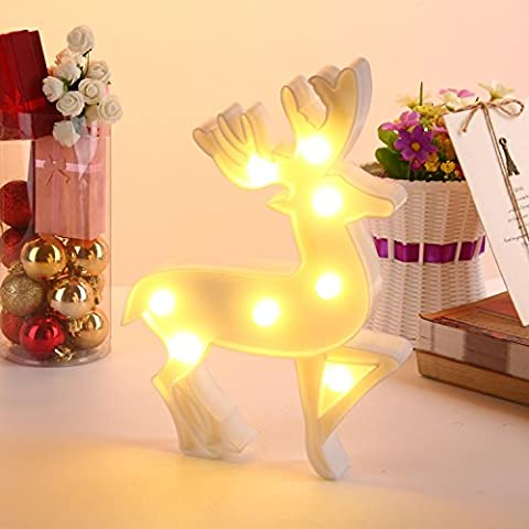 niceEshop(TM) Marquee Light, Wall Decor Holiday Birthday Party LED Lamp Light Battery Operated for Kids Baby Adults Bedroom , White