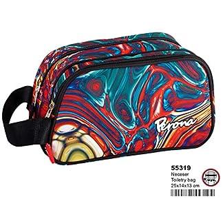 Montichelvo Montichelvo Vanity Case 2 Dept. Pr Mix Bolso de Viaje, 25 cm, (Multicolour)