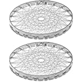 ktHC Stainless Steel Chota Tandoor Jali for Gas, Rasoi Roaster Grill (Silver) - Pack of 2