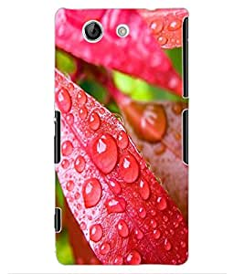 ColourCraft Water Drops on Leaf Design Back Case Cover for SONY XPERIA Z4 MINI / COMPACT