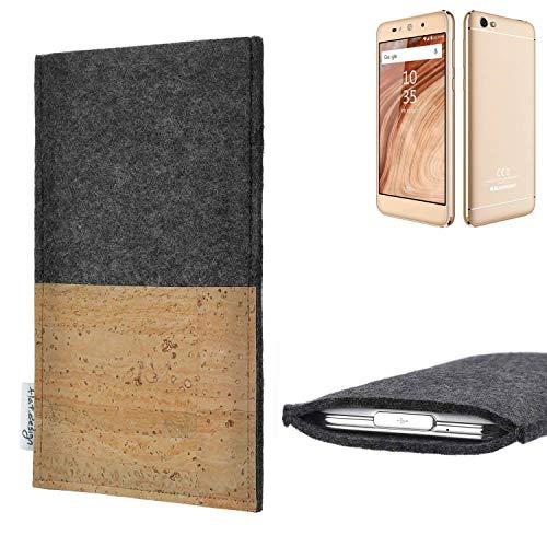 flat.design vegane Handy Hülle Evora für Blaupunkt SL02 Kartenfach Kork Schutz Tasche handgemacht fair vegan
