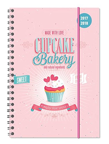 Diary School collegetimer Cupcake 2017/2018 – spiralata – Weekly – 224 Pages – 15 x 21 cm