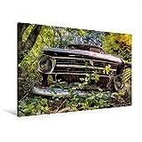 Premium Textil-Leinwand 120 cm x 80 cm quer, Rostlaube Opel Kadett | Wandbild, Bild auf Keilrahmen, Fertigbild auf echter Leinwand, Leinwanddruck (CALVENDO Mobilitaet)