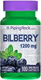 Bilberry 1200 Mg 100 Capsules Fast Dispatch 981 from PIPING ROCK