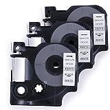 3 PK Cassetta Nastro Cartucce Comaptibili Dymo D1 45013 S0720530 12mm x 7m Nero su Bianco Nastri Etichette per Labelpoint Labelmanager Labelwriter Stampa Adesive Etichettatrice