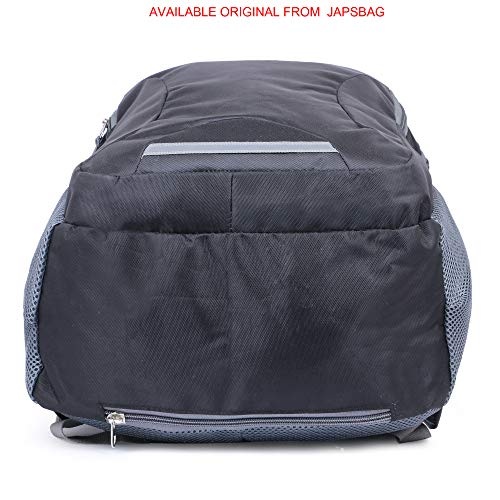 JAPSBAG 34 Ltrs Casual Waterproof Laptop Backpack Bag For Men Women Boys Girls/Office School College Teens & Students with FREE RAIN COVER (19 Inch, Black)