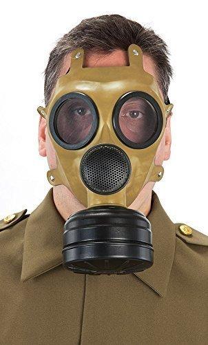 Herren-WW2 grün Gas Halloween Kostüm Maske (Kostüme Mit Halloween Gas Maske)