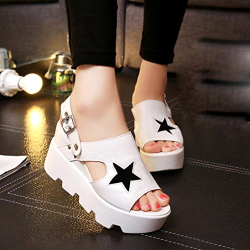 pantofole Sandali Koly Scarpe casual scarpe da donna di pesce donna Boots Scarpe sandali da cinque stelle White