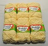 #9: Yashika Best Quality Yarn Cream Colour - Pack of 6