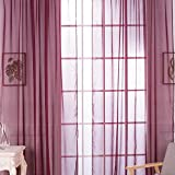 Mikolot Sitting Room Balcony Cafe Gauze Shade Curtain (Wine Red)