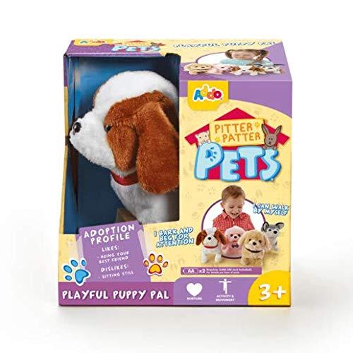 Pitter Patter Pets - Playful Puppy Pal - Interaktives Hündchen, braund und Weiss (Gogo Hund Spielzeug)