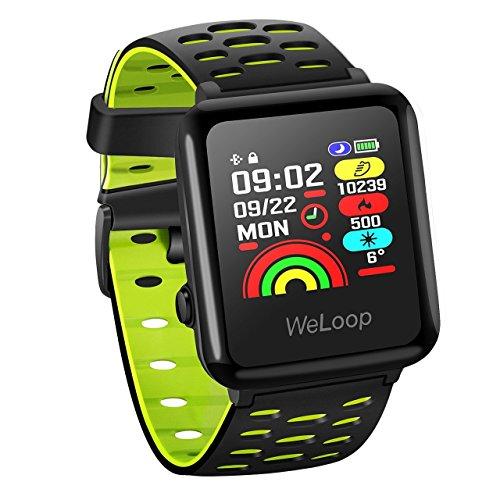 OMORC Smartwatch Etanche 5ATM Montre GPS Connectée Chronomètre de Sport Cardiofréquencemètre...