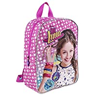 Soy Luna Backpack for Little Girls - Children School Bag - Small Rucksack for Kindergarten - Pink - 30x24x10 cm - Perletti