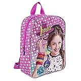 Soy Luna Kinder Rucksack - Disney Schulranzen für Mädchen - Schulrucksack für Kindergarten - Rosa - 30x24x10 cm - Perletti