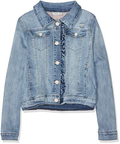 Name IT NOS Mädchen Jacke NKFTEGANI DNM 1158 Jacket NOOS, Blau (Light Blue Denim), (Herstellergröße: 152)