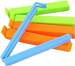 Inddus 3 Different Size BPA Free Plastic Food Snack Bag Pouch Clip Sealer (Multicolor)
