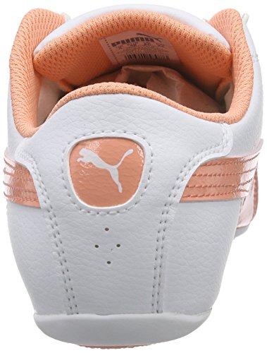 Puma Janine Dance 2 Jr, Sneakers basses fille Blanc - Weiß (white-desert flower 03)