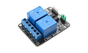 SUNFOUNDER 2-Channel DC 5V Relay Module with Optocoupler Low Level Trigger Expansion Board for Arduino R3 MEGA 2560 1280 DSP ARM PIC AVR STM32 Raspberry Pi (MEHRWEG)