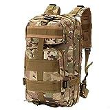 Minetom 30L Multi-Fonction Étanche Tactique Backpack Camouflage Militaire Sac à Dos Randonnée Trekking Camping Chasse Voyage Camouflage02 One Size