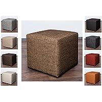 Möbelbär 8009 Sitzwürfel Hocker Cube Mit Kunststoffgleiter Fuß 45 X 45 X 45  Cm, Bezogen