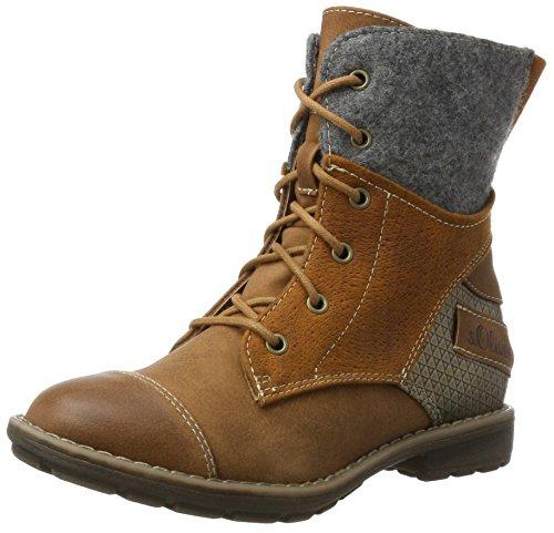 s.Oliver Mädchen 45201 Combat Boots, Braun (Cognac), 35 EU