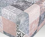 Tischdecke Acryl Teflon beschichtet abwischbar, bedruckt Castillo roze, RUND OVAL ECKIG, Größe wählbar (eckig 130 x 160 cm)