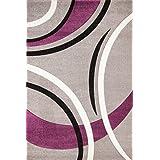 Lalee 347166879 - Alfombra, 120 x 170, color plateado