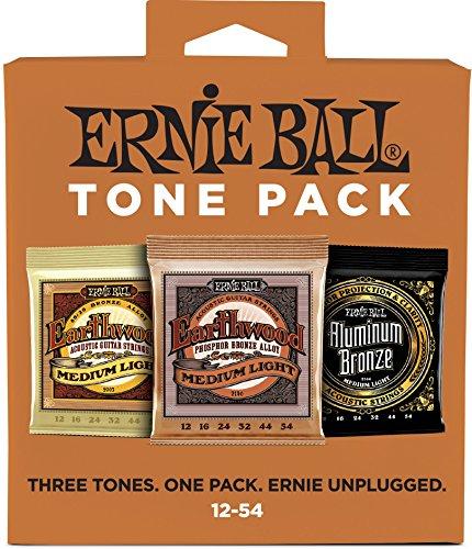 Ernie Ball Medium Light Akustik-Ton-Pack - 12-54 Gauge -