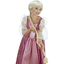 Rapunzel peluca larga peluca trenza Niños Rubio Princesas peluca de pelo largo peluca de Princesa Disney Cuento Carnaval peluca Chica trenzado peluca Carnaval Disfraces Accesorio