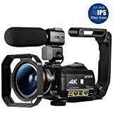 Best Hd Video Cameras - Camcorder 4K ORDRO 3.1 Inches IPS Touch Screen Review