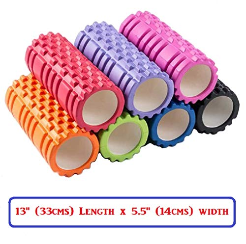 Bodylastics Foam Roller for Deep Tissue Massage (Pink, 33 cms)