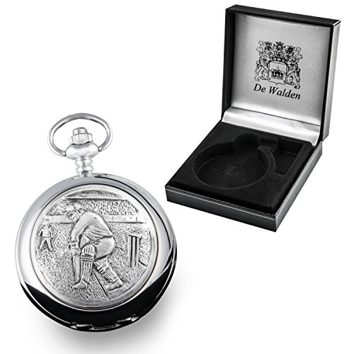 retirement-gift-engraved-pocket-watch-with-pewter-cricketer-case-front-in-a-gift-box